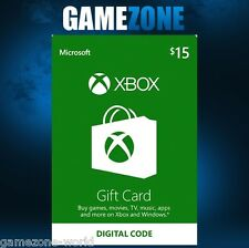 Xbox live 15 $usa carte cadeau points usd dollars pour microsoft xbox 360/xbox one