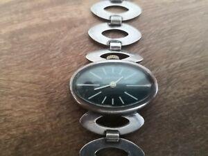 Montre Jean Patrice mécanique femme argent massif bracelet et boîtier