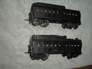 2 Nice Lionel Postwar Whistle Tenders EX/Serviced