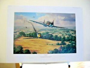 Homeward Bound Me109 High Summer Spitfire Gunther Rall Signed Aviation Art Set
