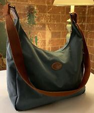 Longchamp Le Pliage Hobo Crossbody Nylon Messenger Bag Blue Fabulous