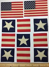 Patriotic Flag USA Stars Stripes 15 Fabric Appliques Americana 1990 Traditions