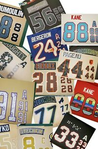 Personal Customized Number Kit for Any Hockey Jersey