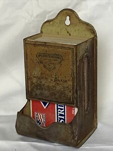 OLD McCormick Deering farm advertising match holder Field Implement Tractor Co