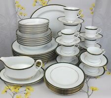 Superb 47 pc Boots Hanover Green Dinner Service Set for 6. Plates cups etc.