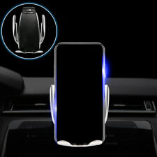 Automatic 360° Qi Wireless Auto Car Charger Mount Air Vent Holder Mobile Phone