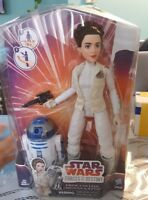 Star Wars Forces Of Destiny Princess Leia Organa & R2-D2  On Hand