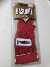 Franklin Leather Batting Glove New Old Stock Right Hand Youth Medium All Red