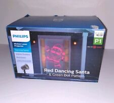 CHRISTMAS PHILIPS MOTION LASER PROJECTOR Dancing Santa Indoor Outdoor NEW [B1]