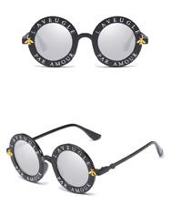 2018 Sunglasses Retro Round Circle Classic Bee Letters Eyewear Glasses Women Men