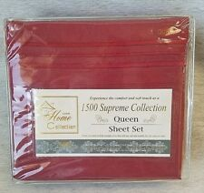 Sweet Home Collection 4pc QUEEN Sheet Set  Burgundy 1500 Supreme   BRAND NEW!