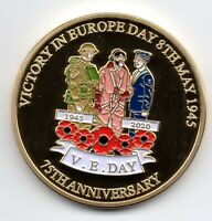 VJ Day VE Gold Coin Victory in Europe over Japan Germany End of World War I