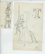 1879 OLD soldiers EARLY Antique American Patriotic FLAG Folk Art fantastic