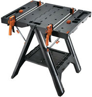 Portable Work Table Bench Sawhorse Quick Clamps Holding Peg Multi-Function NEW