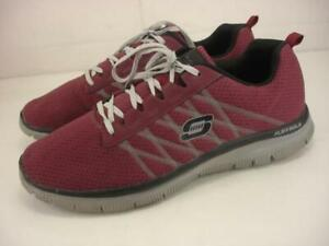 Men's 13 M Skechers Lifestyle FLEX ADVANTAGE VARSITY CLUB Burgundy Shoes Sneaker