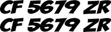 "x2 custom ez BOAT REGISTRATION NUMBERS 23""X3"" VINYL Decal Sticker - PICK COLOR!"