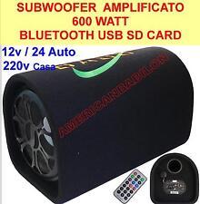 SUBWOOFER AMPLIFICATO ATTIVO 600W BLUETOOTH USB SD RCA - WOOFER 25 CM - 220V/12V