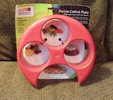 New/ Meal Measure Portion Control Red Plate
