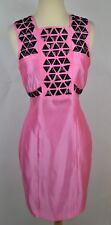 Thomas Wylde Dress 100% Silk Satin Triangle Studs Lined Phototype Gown