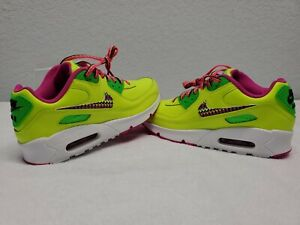 NIKE AIR MAX 90 CW5795-700 NEON PINK RUNNING SHOES 5Y   WOMENS 6.5