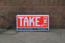 illuminated old shop sign advertising Take .Two Jeans Italian  - FREE POSTAGE