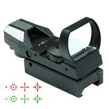 Neue Jagdgewehr Holographic Reflex Rot Grün Dot Sight 4 Typ Absehen 20mm Schiene