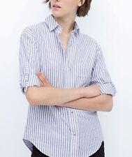 ZARA Women's Striped Cotton Tops & Shirts