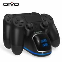 Fast PS4 Controller Charging Dock Station Dual Charger Stand with Status