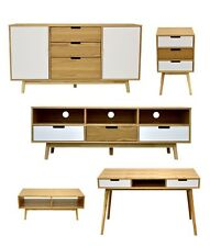 5 piece package - Coffee Table, Side Table, TV Cabinet Unit, Hall Table & Buffet