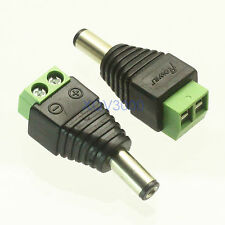5pcs Connector DC Power 5.5mm x 2.5mm male plug for CCTV Camera LED RF COAXIAL