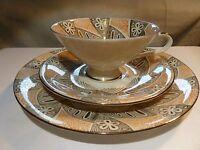 Vintage GERMAN Antique Bavaria Schirnding Trio Set - Tea Cup - Saucer & Plate