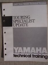 1987 Yamaha Motorcycle Touring Specialist Update Manual Dealership Program  L