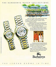 PUBLICITE ADVERTISING  1991    BURBERRY'S of LONDON  collection montres