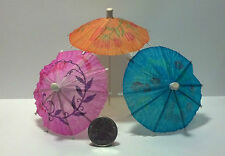 Dollhouse Miniature 3 Paper Oriental Umbrellas 1:12 Inch Scale C8 Dollys Gallery