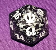 5 Black SPINDOWN Dice Theros, 20 sided Spin Down Die MtG Magic the Gathering d20