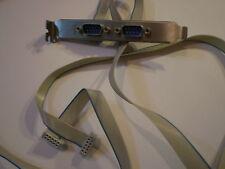 Encombrant port COM Bracket slotblende 2x aux in rs232 9pin extra long 65cm Câble