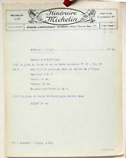 1925   ITINERAIRE MICHELIN   AUXERRE  JOIGNY    CARTE BIBENDUM