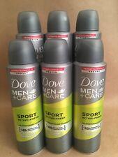 Dove Men + Care Sport Active Fresh Antiperspirant Deo Spray 150ml 6 Pack