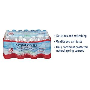 Crystal Geyser Alpine Spring Water 16.9 oz Bottle 35/Case 35001CT