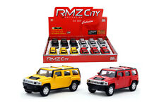 "RMZ DISPLAY 3"" HUMMER H3 DIECAST CAR 12 PIECES BOX SET 355008"