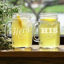 Personalized Gifts for Couple Set of Mason Jars wedding, Bridal Pgl821671-S2