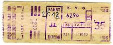 Biglietti KVG Kassel 35 Pfennig tram dei 50 anni GER RARO ki2060