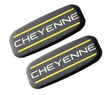 2x Cheyenne Cab Emblem Right Left Badge Roof Pillar For 88 07 Silverado Yellow
