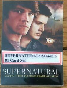 SUPERNATURAL SEASON 3 (THREE): BASE SET: ALL 81 CARDS