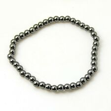 Magnetic Hematite Stretchy Thin Beads Bracelet Arthritic Pain & BP (E064-10)