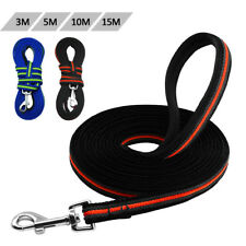 Durable 3m to 15m Dog Tracking Training Long Lead Leash Padded Handle Non-slip
