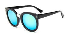 Mohawk Ladies Oversize Fashion Designer Sunglasses  Black & Green Mirror UV400Y4