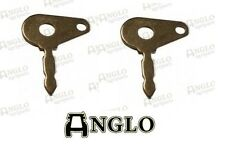 2 Pack Universal Ignition Switch Keys Tractor Digger Forklift JCB Lucas Metal