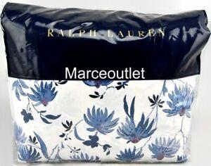 Ralph Lauren Adelaide Floral KING Duvet Cover Blue
