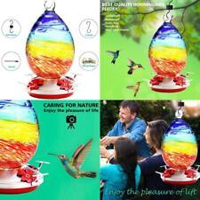 N/A. Hummingbird Feeder for Outdoors, Hand Blown Glass Humming Bird Feeder,Pre